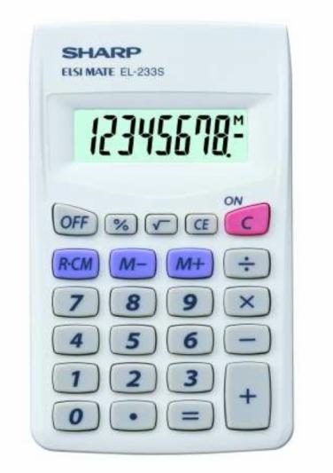 SHARP EL-233S - Kalkulatory - Kieszonkowe