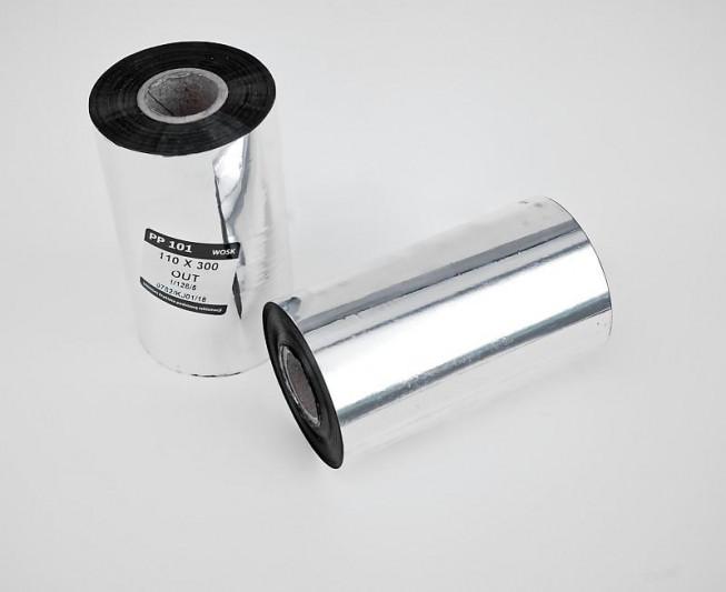Taśma termotransferowa woskowa 110x300 - Materiały eksploatacyjne - Do drukarek etykiet