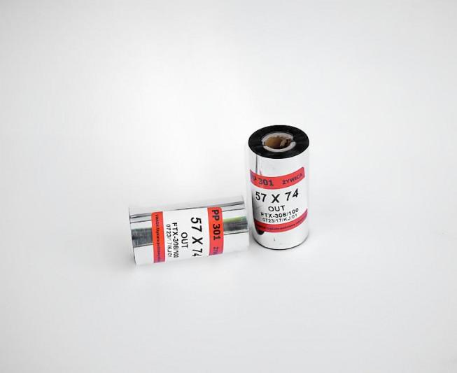 Taśma termotransferowa żywiczna 57x74 - Materiały eksploatacyjne - Do drukarek etykiet