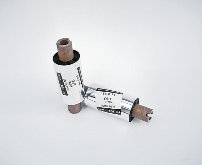 Taśma termotransferowa woskowa 64x74 - Materiały eksploatacyjne - Do drukarek etykiet