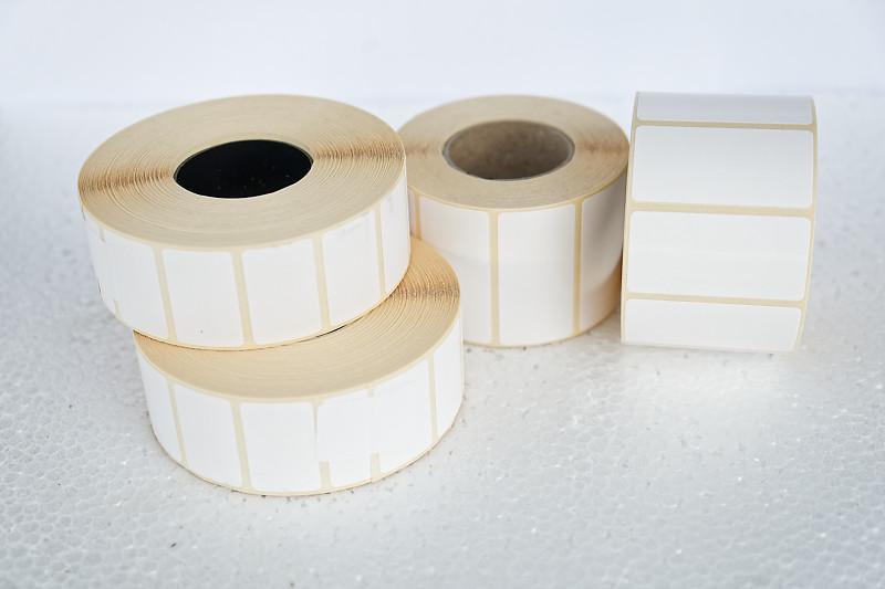 Etykiety termiczne białe - Materiały eksploatacyjne - Do drukarek etykiet