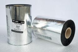 Taśma termotransferowa woskowa 110x450 -  Materiały eksploatacyjne  -  Do drukarek etykiet